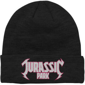 Jurassic Park Metal Theme Embroidered Logo Beanie