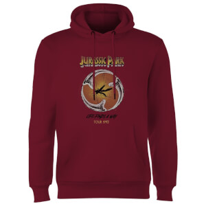 Jurassic Park Life Finds A Way Tour Hoodie - Burgundy