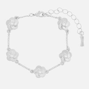 Ted Baker Women's Panele Polished Flower Bracelet - Silver