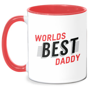 Worlds Best Daddy Mug - White/Red