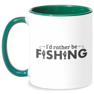 Id Rather Be Fishing Mug - White/Green