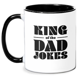 King Of The Dad Jokes Mug - White/Black