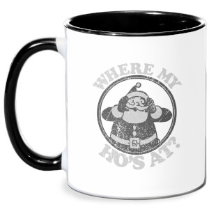 Where My Ho's At Black Mug - White/Black