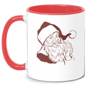 You're On My Naughty List Mug - White/Red