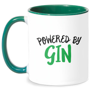 Powered By Gin Mug - White/Green