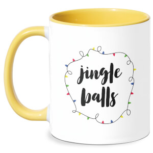 Jingle Balls Mug - White/Yellow