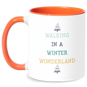 Walking In A Winter Wonderland Mug - White/Orange