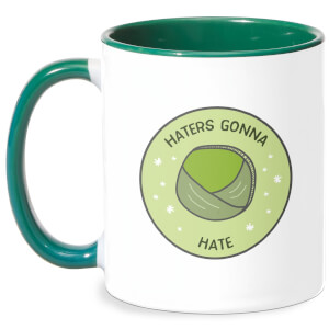 Haters Gonna Hate Mug - White/Green