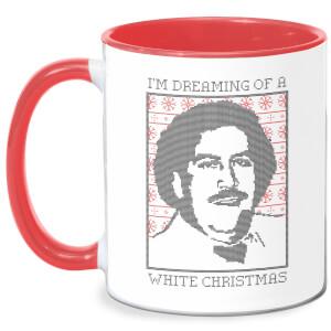 I'm Dreaming Of A White Christmas Mug - White/Red
