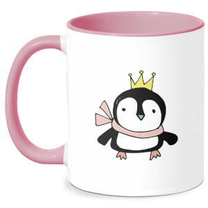 Christmas Penguin Mug - White/Pink