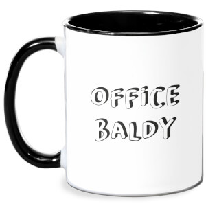 Office Baldy Mug - White/Black