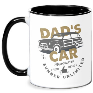 Dad's Car Mug - White/Black