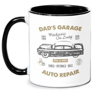 Dad's Garage Mug - White/Black