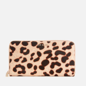Ted Baker Women's Salomee Leopard Effect Zip Around Matinee - Taupe