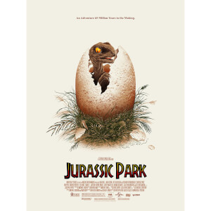 Jurassic Park Screenprint by Doaly