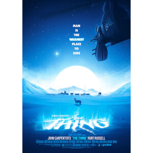 Lithographie The Thing de Patrick Connan (Variante Bleue)