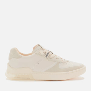 Coach Women's Citysole Suede/Leather Court Trainers - Chalk