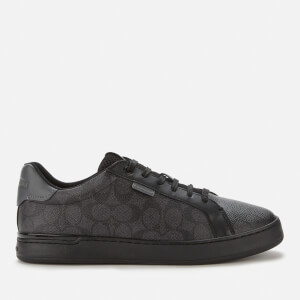 Coach Men's Lowline Signature Print Cupsole Trainers - Charcoal/Grey