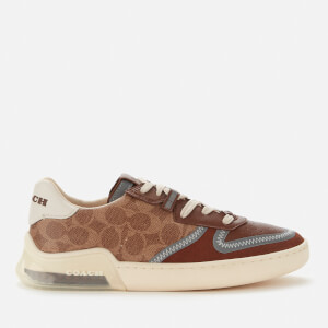 Coach Men's Citysole Signature Print Court Trainers - Khaki/Saddle