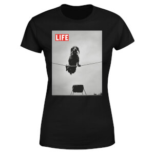 LIFE Magazine Dachshund On A Wire Women's T-Shirt - Black