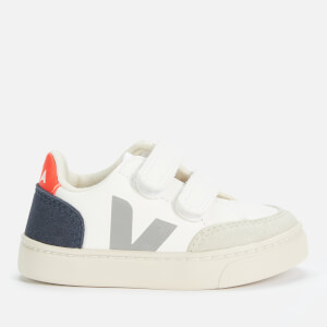 Veja Toddlers' V-12 Velcro Trainers - Extra White/Multico/Nautico