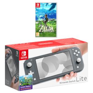 Nintendo Switch Lite (Grey) The Legend of Zelda: Breath of the Wild Pack