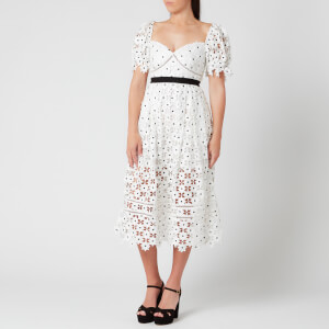 Self-Portrait Women's Daisy Lace Midi Dress - White