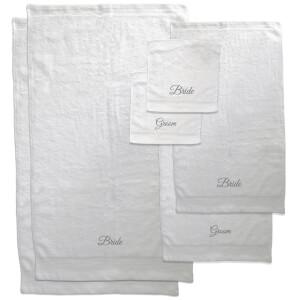 Mr & Mrs Towel Bundle - White