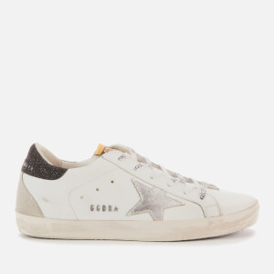 Golden Goose Deluxe Brand Women's Superstar Leather Trainers - White/Silver/Black