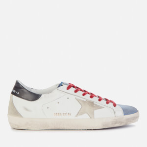 Golden Goose Deluxe Brand Men's Superstar Leather Trainers - White/Powder Blue/Ice/Black