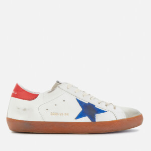 Golden Goose Deluxe Brand Men's Superstar Leather Trainers - White/Ice/Bluette/Red