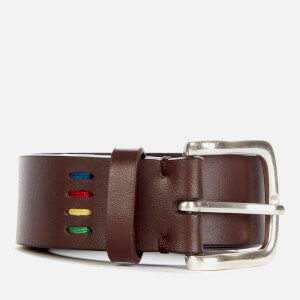 PS Paul Smith Men's Mini Zebra Leather Belt - Brown