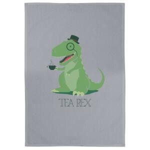 Tea Rex Cotton Grey Tea Towel