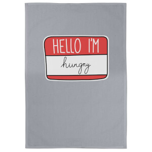 Hello I'm Hungry Cotton Grey Tea Towel