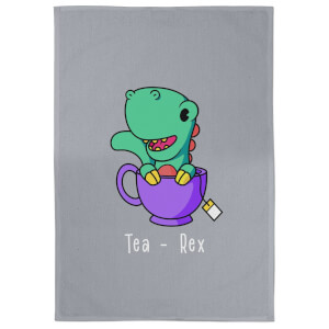 Tea - Rex Cotton Grey Tea Towel