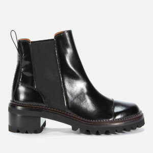 See By Chloé Women's Leather Chelsea Boots - Black
