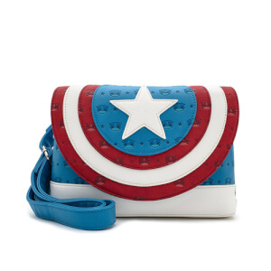 Loungefly Pop By Marvel Captain America Cross Body Bag