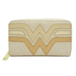 Loungefly DC Comics Wonder Woman Cream Quilted Faux Leather Purse