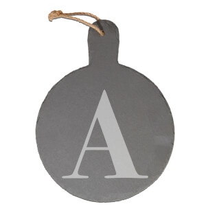 Uppercase Letter Engraved Slate Cheese Board