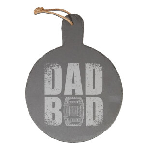 Dad Bod Engraved Slate Cheese Board
