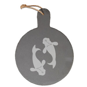 Pisces Engraved Slate Cheese Board
