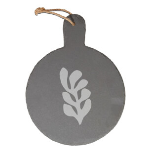 Shape Engraved Slate Cheese Board