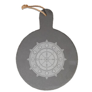 Wheel Of Fortune Engraved Slate Cheese Board