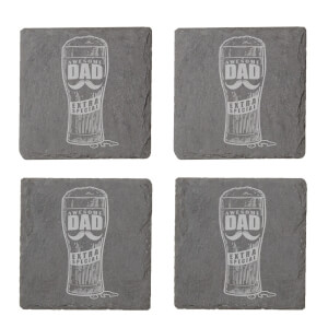 Awesome Dad Extra Special Engraved Slate Coaster Set
