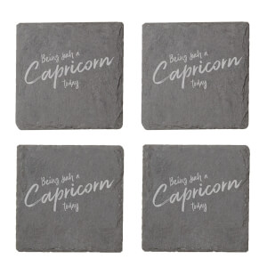 Being Such A Capricorn Today Engraved Slate Coaster Set