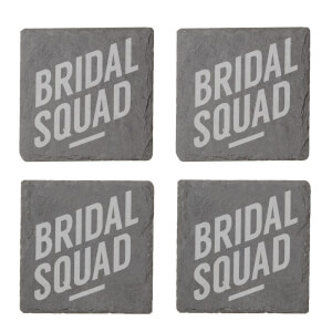 Bridal Squad Engraved Slate Coaster Set