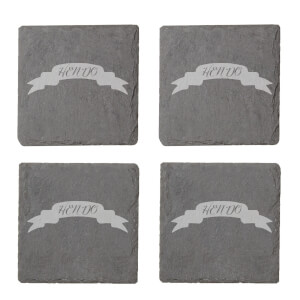 Hen Do Engraved Slate Coaster Set