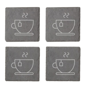 Tea Engraved Slate Coaster Set