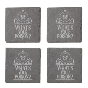 Whats Your Poison? Engraved Slate Coaster Set
