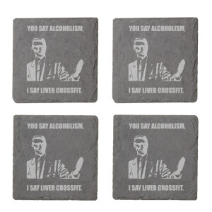 You Say Alcoholism Engraved Slate Coaster Set